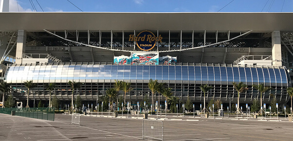 Window Film at the Hardrock Stadium in Miami